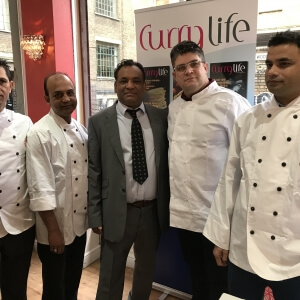 City Spice' Abdul Ahad with Michellin Star and Award-Winning Chefs at the CurryLife press release for the Curry expedition to Sri Lanka! City Spice was the sole restaurant in the whole of the UK to be invited.